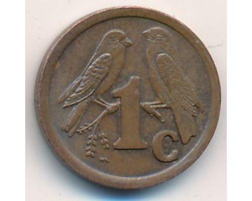 1 цент 1998 год ЮАР Птицы