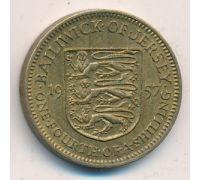 1/4 шиллинга 1957 год Джерси Елизавета II