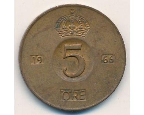 5 эре 1966 год Швеция