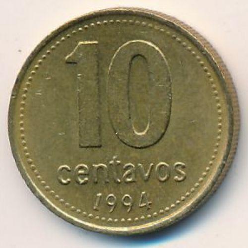 10 сентаво 1994 год. Аргентина