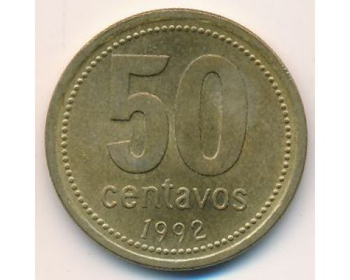 50 сентаво 1992 год Аргентина