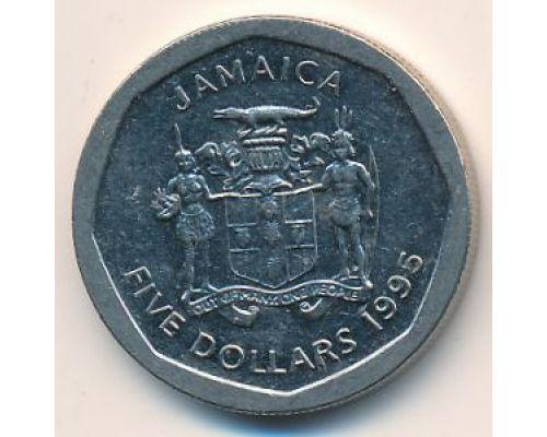 5 долларов 1995 год Ямайка Норман Манли