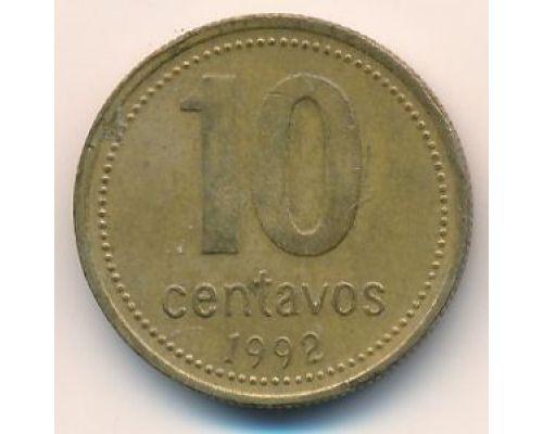 10 сентаво 1992 год Аргентина