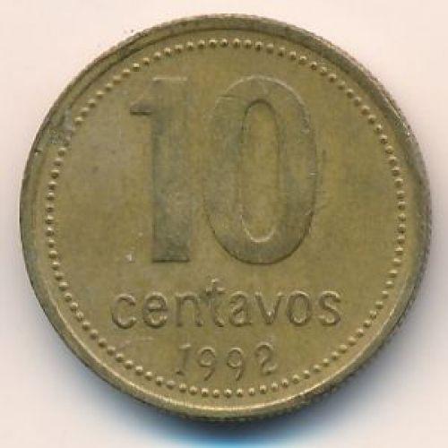 10 сентаво 1992 год. Аргентина