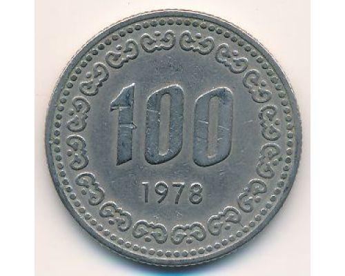 100 вон 1978 год Южная Корея Ли Сун-Син
