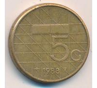 5 гульденов 1988 год Нидерланды