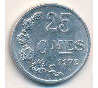 25 сантим 1972 год Люксембург