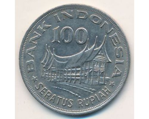 100 рупий 1978 год Индонезия Дерево Жизни