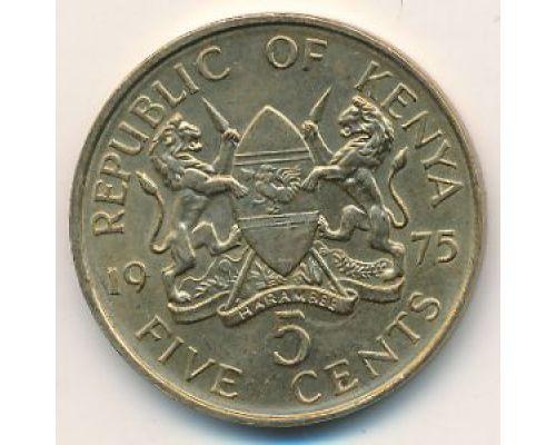 10 центов 1975 год Кения Джомо Кениата