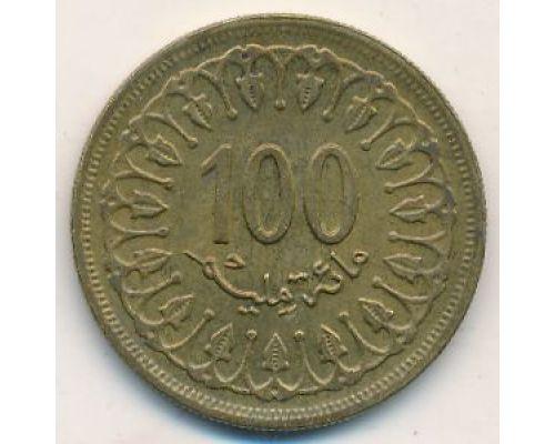 100 миллим 1960 год Тунис