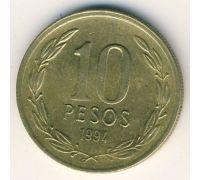 10 песо 1994 года Чили