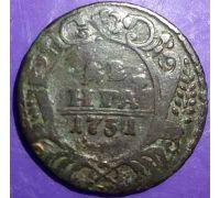 Деньга 1731 год. Анна Ивановна. Денга. Царская Россия (2)