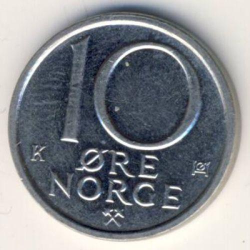10 эре 1987 год. Норвегия