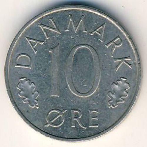 10 эре 1987 года. Дания