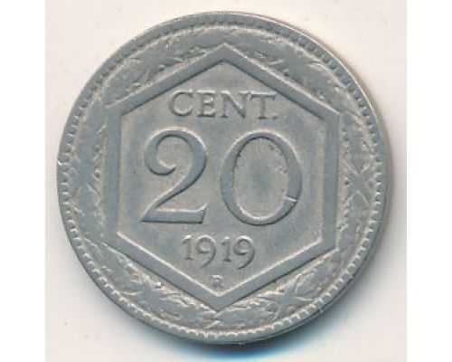 20 чентезимо 1919 года Италия (20 центов)