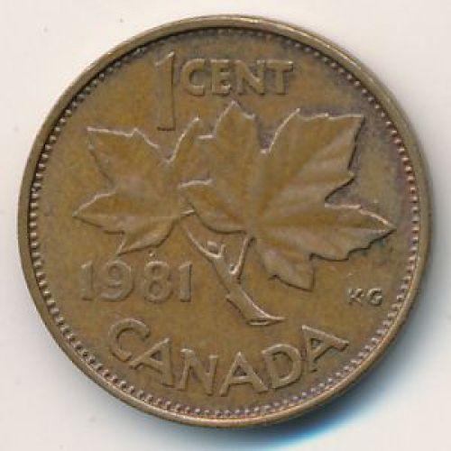 1 цент 1981 год. Канада
