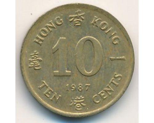 10 центов 1987 год Китай Гонконг