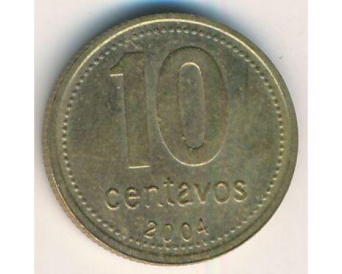 10 сентаво 2004 год. Аргентина