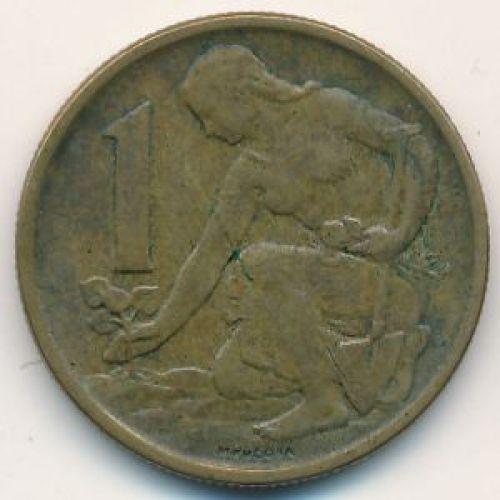 1 крона 1986 год. Чехословакия