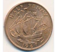 1/2 пенни 1967 год Великобритания Пол пенни, half penny