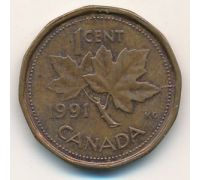 1 цент 1991 год Канада