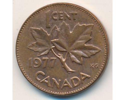 1 цент 1977 год Канада