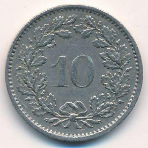 10 раппенов 1973 год Швейцария