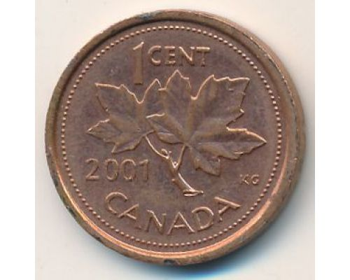 1 цент 2001 год Канада