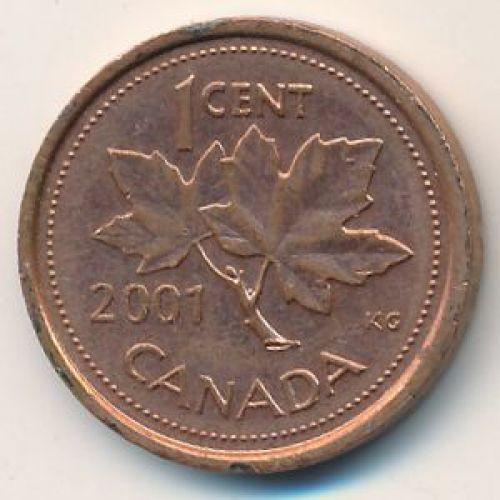 1 цент 2001 год. Канада
