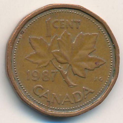 1 цент 1987 год. Канада