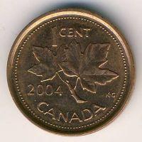 1 цент 2004 год Канада