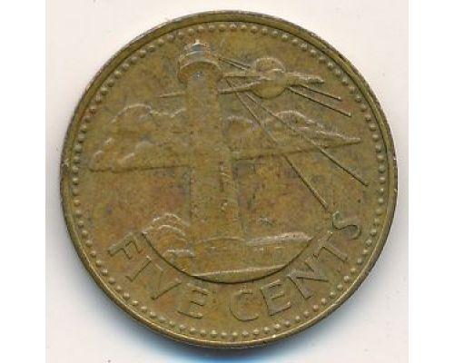 5 центов 1996 год Барбадос