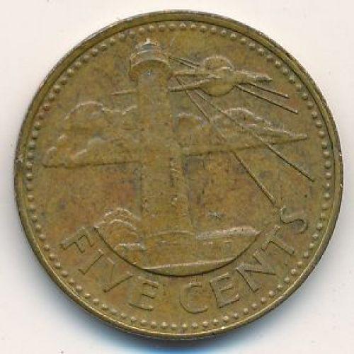 5 центов 1996 год. Барбадос