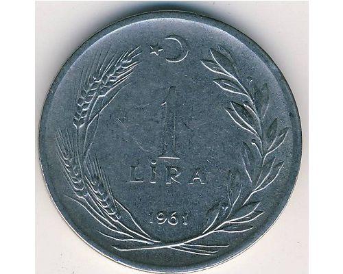 1 лира 1961 год. Турция