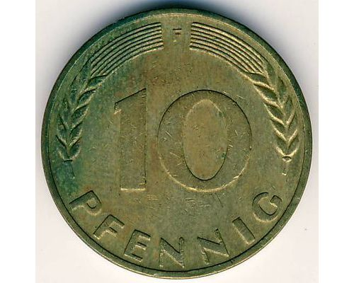 10 пфеннигов 1950 F Германия. ФРГ