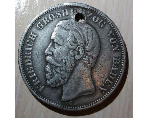 5 марок 1900 год Баден Германская Империя Фридрих I Серебро