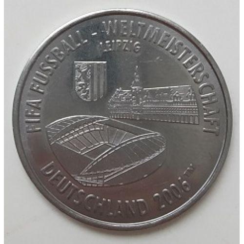 Спортивный жетон FIFA Deutschland 2006. Германия Чемпионат Мира по Футболу. Leipzig