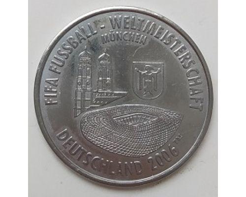 Спортивный жетон FIFA Deutschland 2006. Германия Чемпионат Мира по Футболу. Munchen