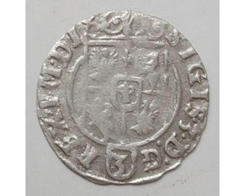 Полторак 3 полугроша 1,5 гроша 1625 год Сигизмунд III Ваза Польша