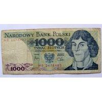 1000 злотых 1982 год Польша
