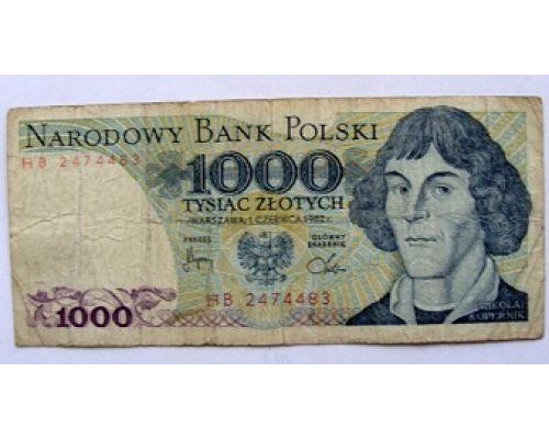 1000 злотых 1982 год. Польша