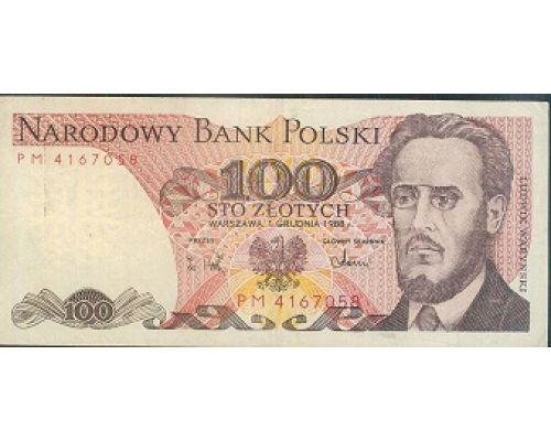 100 злотых 1988 год Польша