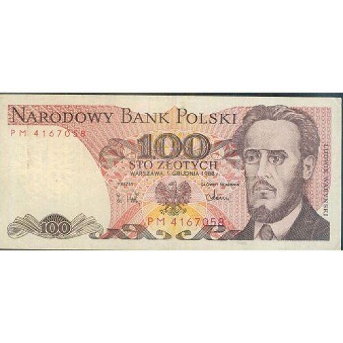 Купюра 100 злотых 1988 год. Польша