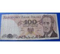 100 злотых 1986 год Польша