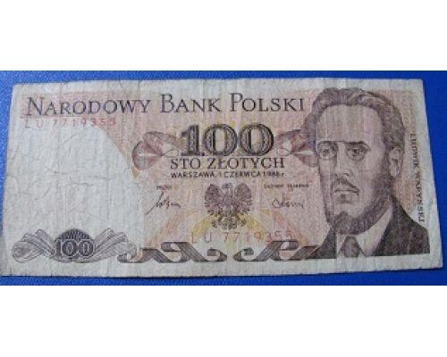 100 злотых 1986 год. Польша
