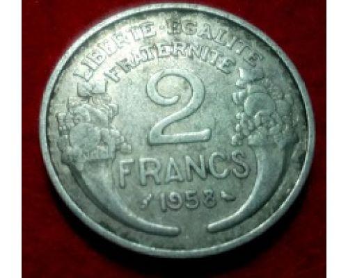 2 франка 1958 год Франция