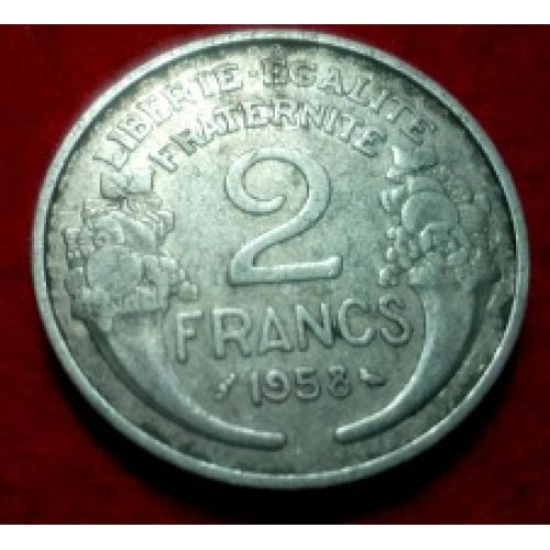 2 франка 1958 год. Франция