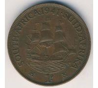 1 пенни 1941 год ЮАР. Георг VI. Дромедарис