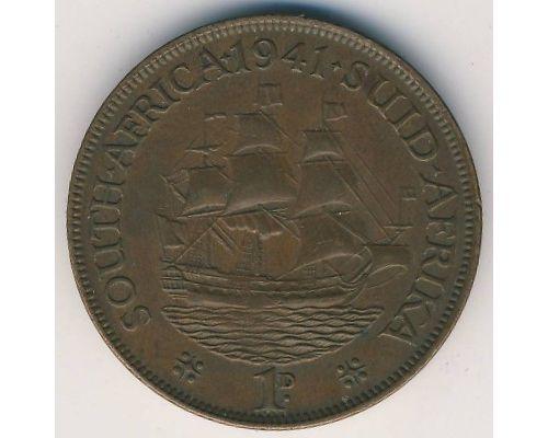 1 пенни 1941 год ЮАР Георг VI Дромедарис