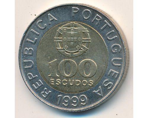 100 эскудо 1999 год Португалия Педро Нуниш
